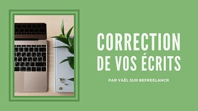 Correction de vos ecrits